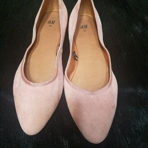 H&M Blush Ballerina Flats